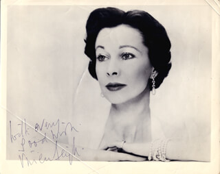 VIVIEN LEIGH - AUTOGRAPHED SIGNED PHOTOGRAPH