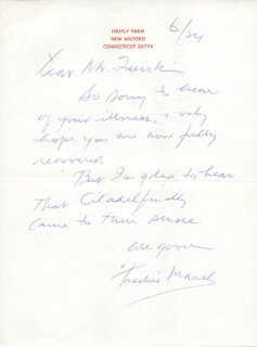 FREDRIC MARCH - AUTOGRAPH LETTER SIGNED 6/24