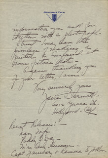 JANE DARWELL - AUTOGRAPH LETTER SIGNED 10/26/1935