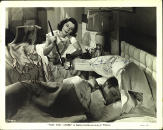 FAST AND LOOSE MOVIE CAST - AUTOGRAPHED SIGNED PHOTOGRAPH CO-SIGNED BY: ROSALIND RUSSELL, ROBERT MONTGOMERY