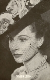 VIVIEN LEIGH - ADVERTISEMENT SIGNED
