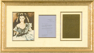 VIVIEN LEIGH - TYPED LETTER SIGNED 12/30/1943
