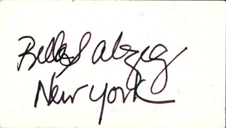 Autographs: BELLA BATTLING BELLA ABZUG - SIGNATURE(S)