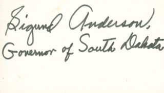 SIGURD ANDERSON - AUTOGRAPH  - HFSID 70325