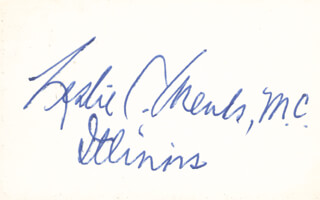 Autographs: LESLIE C. ARENDS - SIGNATURE(S)