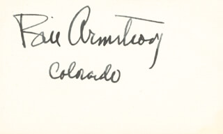 Autographs: BILL ARMSTRONG - SIGNATURE(S)