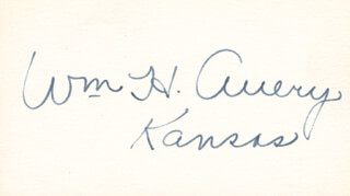 WILLIAM H. AVERY - AUTOGRAPH