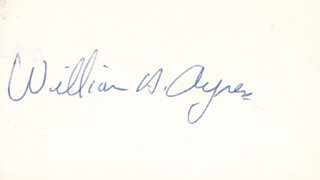 Autographs: WILLIAM A. AYRES - SIGNATURE(S)