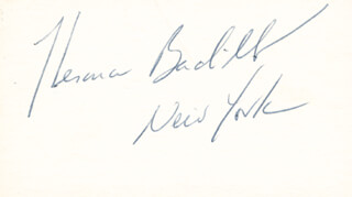Autographs: HERMAN BADILLO - SIGNATURE(S)