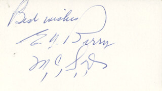 ELLIS Y. BERRY - AUTOGRAPH SENTIMENT SIGNED