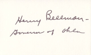 GOVERNOR HENRY BELLMON - AUTOGRAPH