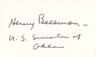 Autographs: GOVERNOR HENRY BELLMON - SIGNATURE(S)