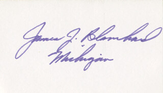 Autographs: JAMES J. BLANCHARD - SIGNATURE(S)