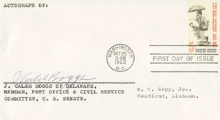 Autographs: GOVERNOR J. CALEB BOGGS - FIRST DAY COVER SIGNED