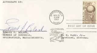 EDWARD P. BOLAND - FIRST DAY COVER SIGNED