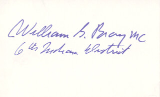 WILLIAM G. BRAY - AUTOGRAPH