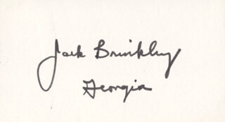 Autographs: JACK BRINKLEY - SIGNATURE(S)