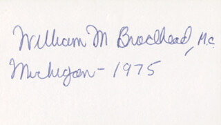 Autographs: WILLIAM M. BRODHEAD - SIGNATURE(S)