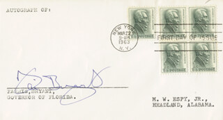 CECIL FARRIS BRYANT - FIRST DAY COVER SIGNED