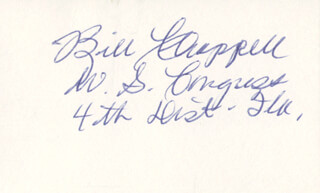 WILLIAM VENROE BILL CHAPPELL - AUTOGRAPH