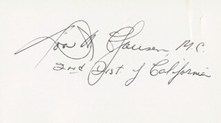 Autographs: DONALD H. CLAUSEN - SIGNATURE(S)