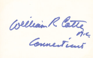 WILLIAM ROSS COTTER - AUTOGRAPH