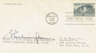 GLENN C. CUNNINGHAM - FIRST DAY COVER SIGNED