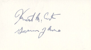 GOVERNOR KENNETH M. CURTIS - AUTOGRAPH