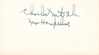 GOVERNOR CHARLES M. DALE - AUTOGRAPH