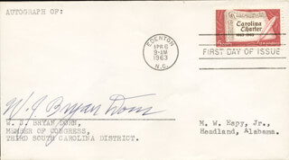 WILLIAM J. B. DORN - FIRST DAY COVER SIGNED