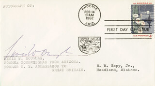 LEWIS W. DOUGLAS - FIRST DAY COVER SIGNED