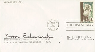 DON (WILLIAM DONLON) EDWARDS - FIRST DAY COVER SIGNED