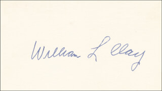 WILLIAM L. CLAY - AUTOGRAPH