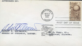 ROBERT F. ELLSWORTH - FIRST DAY COVER SIGNED