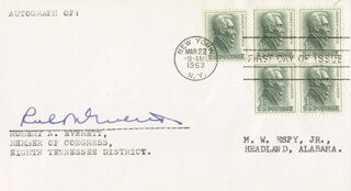 ROBERT A. EVERETT - FIRST DAY COVER SIGNED