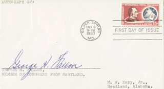 GEORGE H. FALLON - FIRST DAY COVER SIGNED