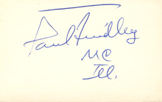 PAUL FINDLEY - AUTOGRAPH