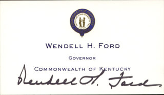 GOVERNOR WENDELL H. FORD - CALLING CARD SIGNED