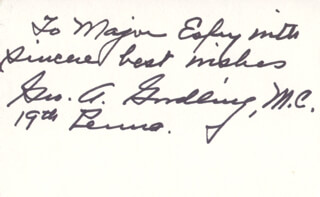 GEORGE A. GOODLING - AUTOGRAPH NOTE SIGNED