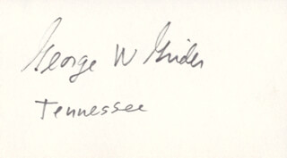 GEORGE W. GRIDER - AUTOGRAPH