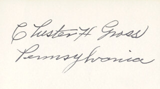 CHESTER H. GROSS - AUTOGRAPH