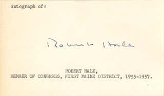 Autographs: ROBERT HALE - SIGNATURE(S)