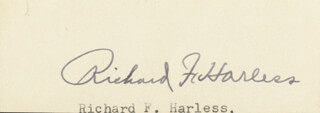 RICHARD F. HARLESS - CLIPPED SIGNATURE