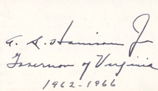 GOVERNOR ALBERTIS S. HARRISON JR. - AUTOGRAPH