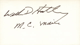 WILLIAM D. HATHAWAY - AUTOGRAPH
