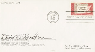Autographs: DAVID N. HENDERSON - FIRST DAY COVER SIGNED