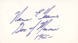 GOVERNOR WARREN E. HEARNES - AUTOGRAPH