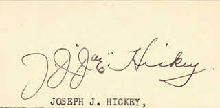 JOHN J. JOE HICKEY - CLIPPED SIGNATURE