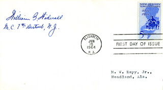 Autographs: WILLIAM B. WIDNALL - FIRST DAY COVER SIGNED