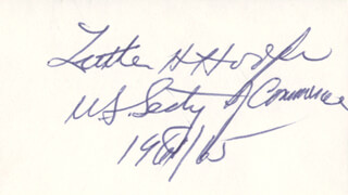 LUTHER H. HODGES - AUTOGRAPH  - HFSID 70855